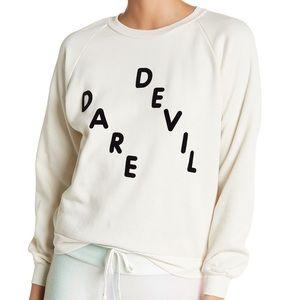 Wildfox Dare Devil crew neck sweatshirt